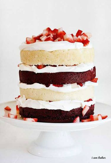 14 Best DIY Naked Cake Recipes How to Make a Naked Cake