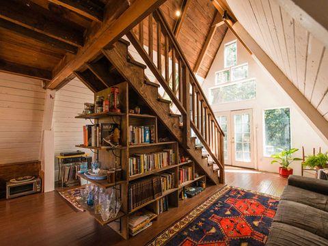 tiny a frame home california unique tiny homes. Black Bedroom Furniture Sets. Home Design Ideas
