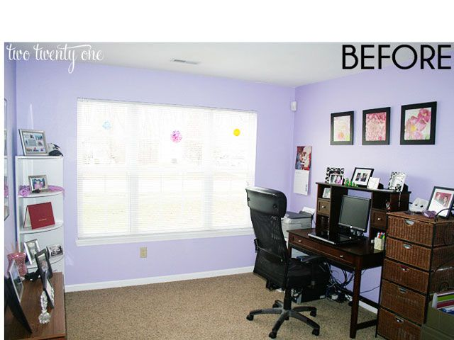 Two Twenty One Home Office Before And After Home Office Decorating