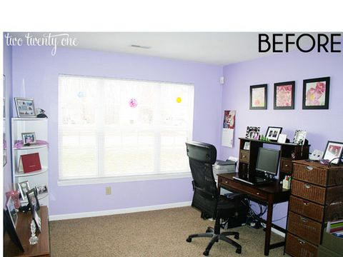 two twenty one home office before and after home office decorating ideas. Black Bedroom Furniture Sets. Home Design Ideas