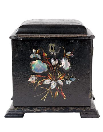 Sewing boxes such as this one were once common household items