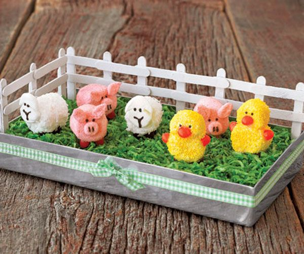How To Make A Marshmallow Barnyard Centerpiece Spring Decorating