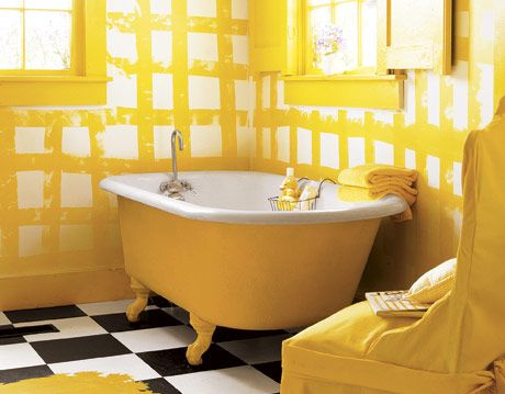Yellow Bathtub A Simple Color Scheme