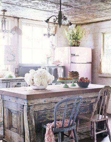 Salvaged Island In Newly Built Kitchen