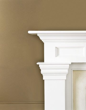 White Mantel with Moldings