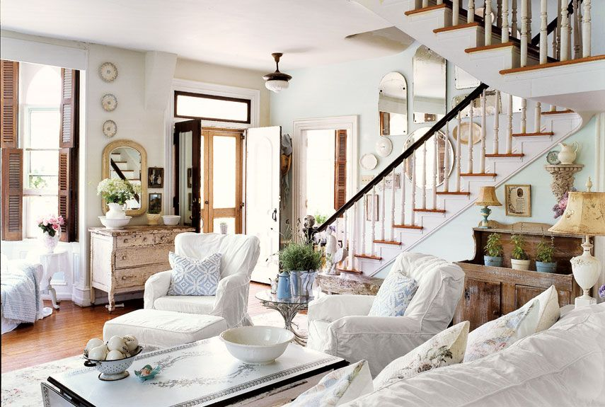 Country Living Magazine & 10 Shabby-Chic Living Room Ideas - Shabby Chic Decorating ...