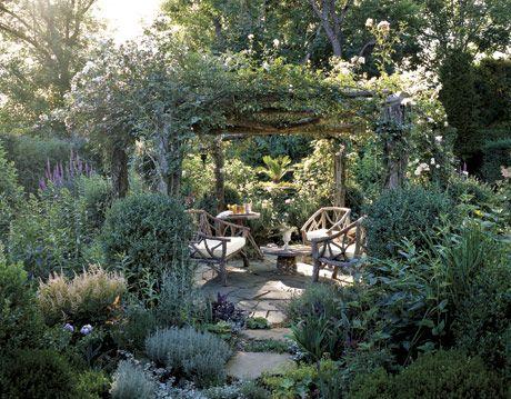 arbor in a garden