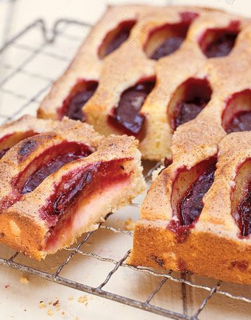 fruit pastry on a cooling rack