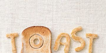 the word toast spelled out with toast