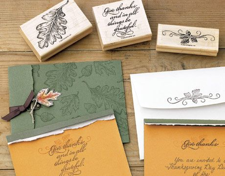 homemade invitations and stamps