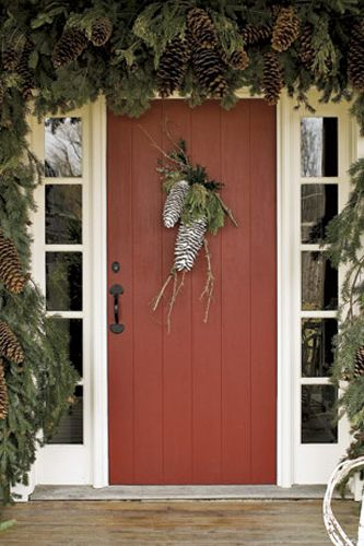 pinecone door decoration