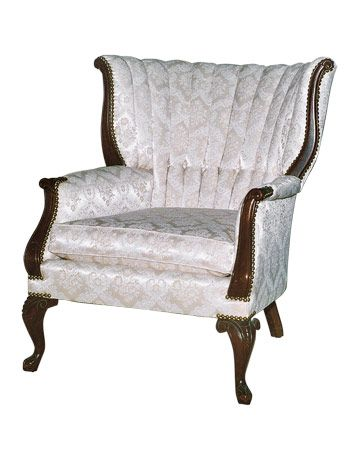 white wing chair