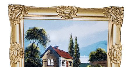 American Reverse Painting on Glass