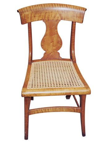 Classical Revival Chair In Tiger Maple