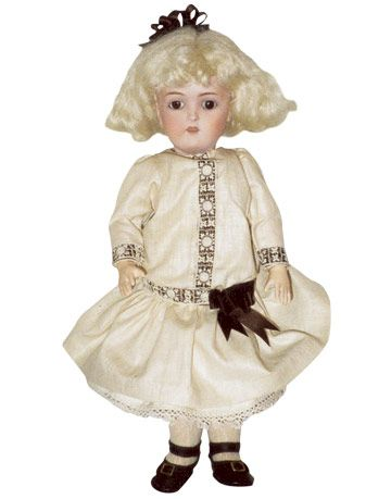 Unglazed porcelain child doll