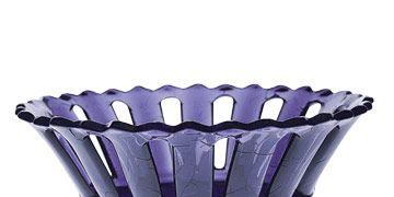 purple glass dish