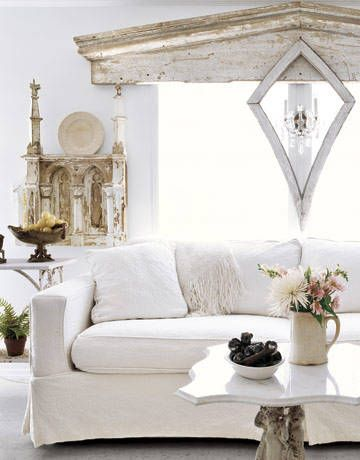 Delightful Living Room With A White Sofa