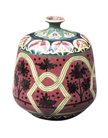 Short Red Vase