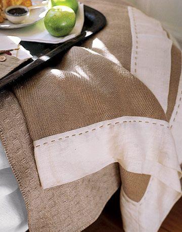 brown linen sheets