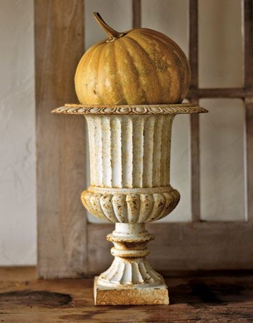 pumpkin in an urn