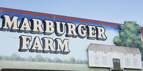 marburger farm antique show sign