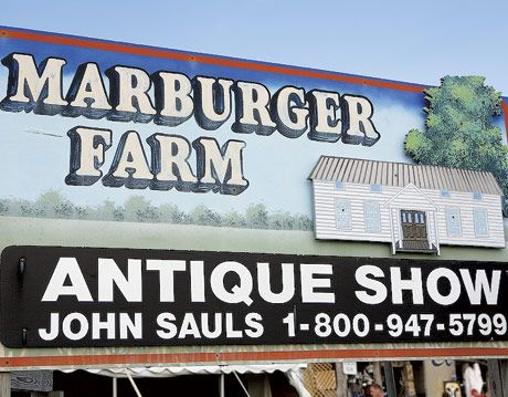 marburger farm antique show sign