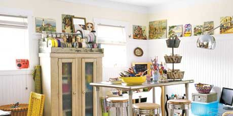 Craft room ideas and designs craft room decorating ideas for House plans with craft room