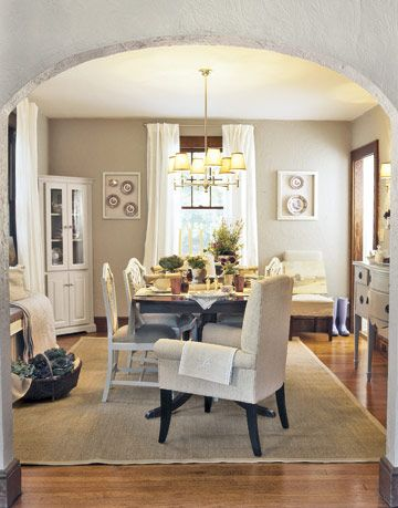 neutral toned dining room