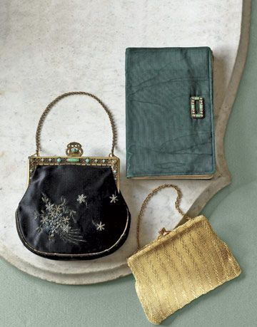 three vintage bags with different styles