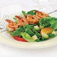shrimp pink grapefruit and avocado salad