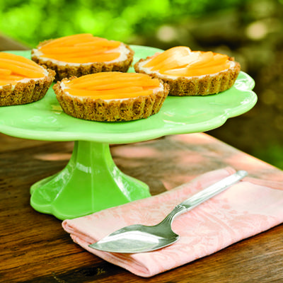 nectarine cream cheese tartlets