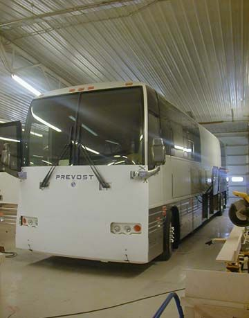 exterior of bus
