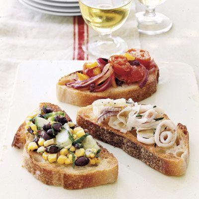 tomato and olive bruschetta