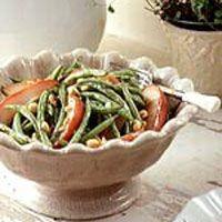warm pear green bean salad