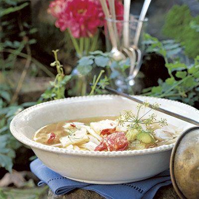 lobster-fennel soup