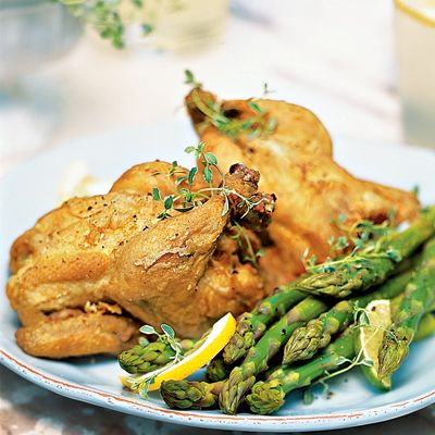 southern spiced deep fried game hen