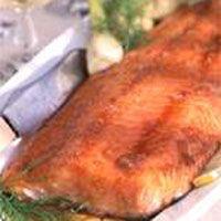 maple marinated roasted salmon