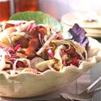 warm cabbage slaw with maple bacon dressing