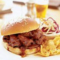 Barbecue Beef Brisket Sandwiches