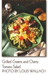 grilled greens and cherry tomato salad
