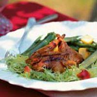 quail golden cherry barbecue sauce