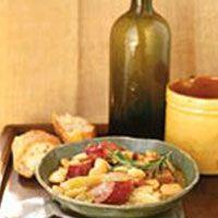 butter bean and sausage hot pot