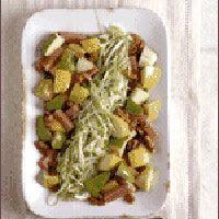 waldorf salad and cabbage slaw