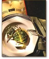 romaine wrapped marinated mozzarella