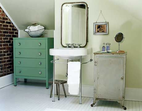 turquoise dresser and cabinet