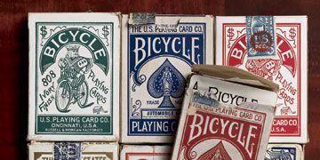 vintage bicycle card boxes