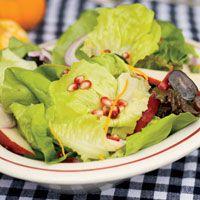 red pear grape pecan salad