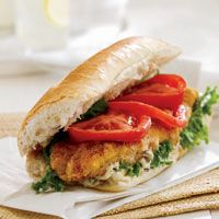 catfish po boy sandwich