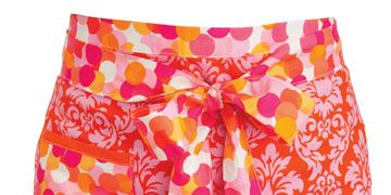 carrie sommer floral pink printed pencil skirt