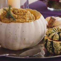 pumpkin risotto with pumpkin butter
